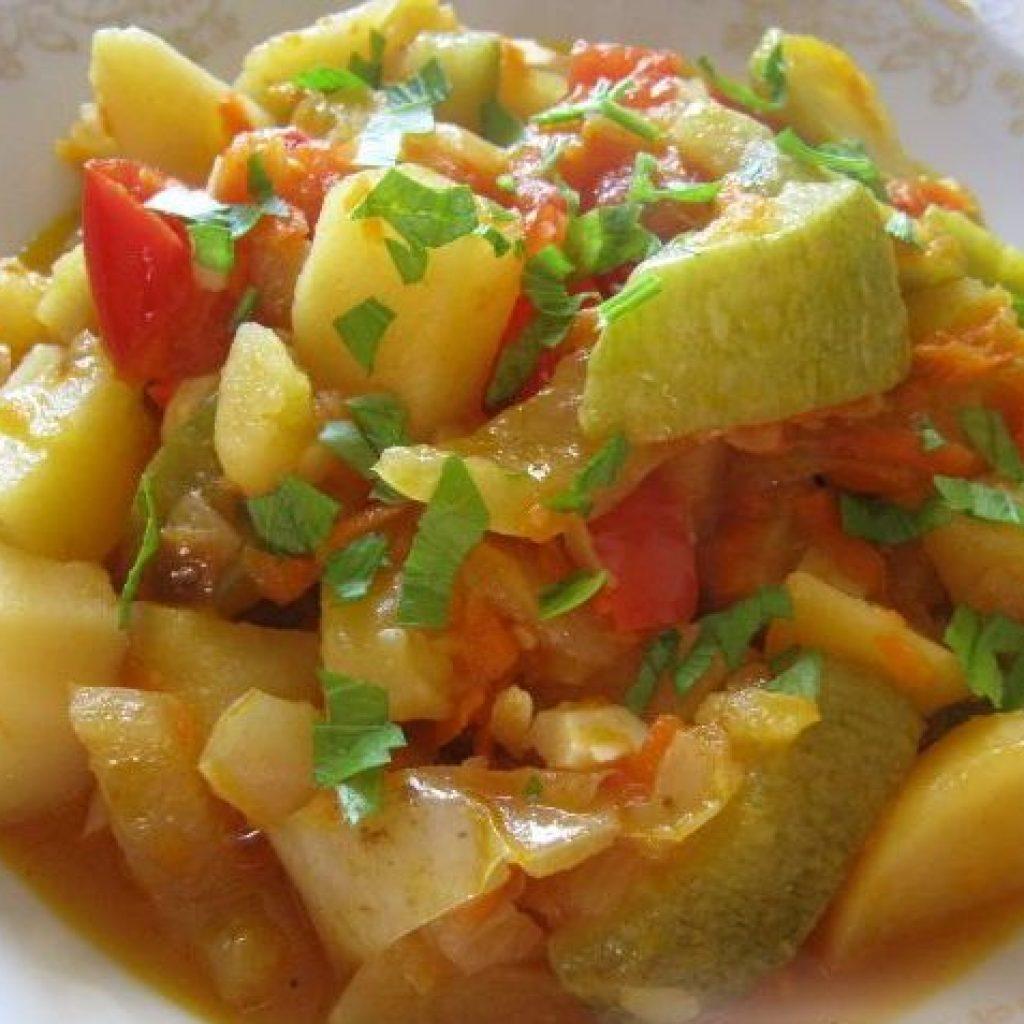 Овощное рагу рецепт вегетарианское